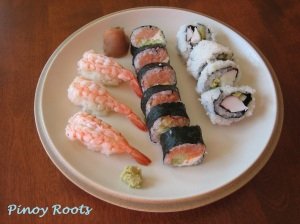 First attempt at homemade sushi (which no one else dared taste!), January 2009