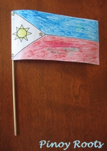 A homemade flag
